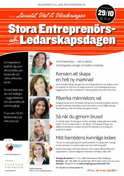 Stora Ledarskapsdagen okt 2014, inbjudan