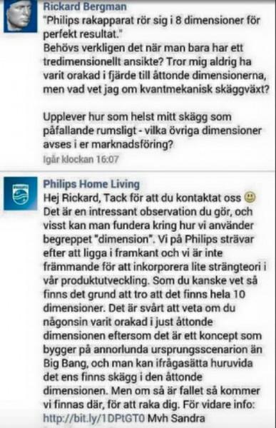 philips svar sociala medier