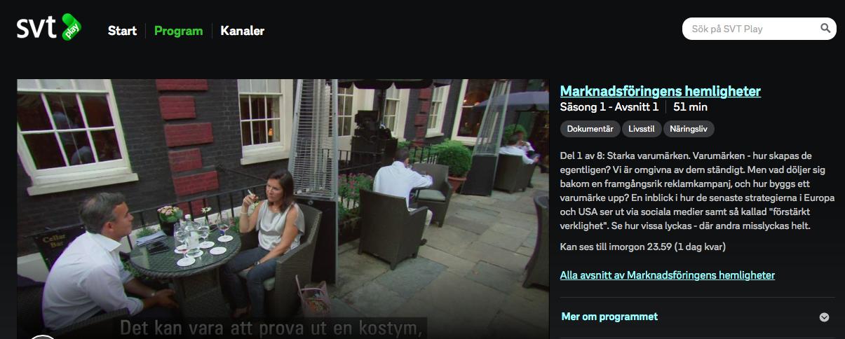 Marknadsföringens hemligheter - SVT Play