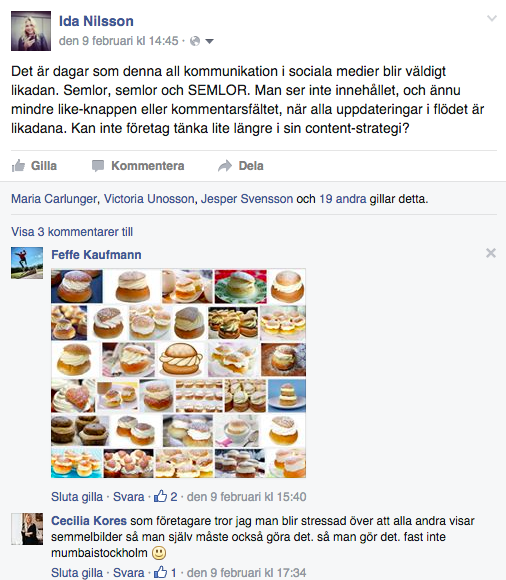 Facebook semlor Ida nilsson