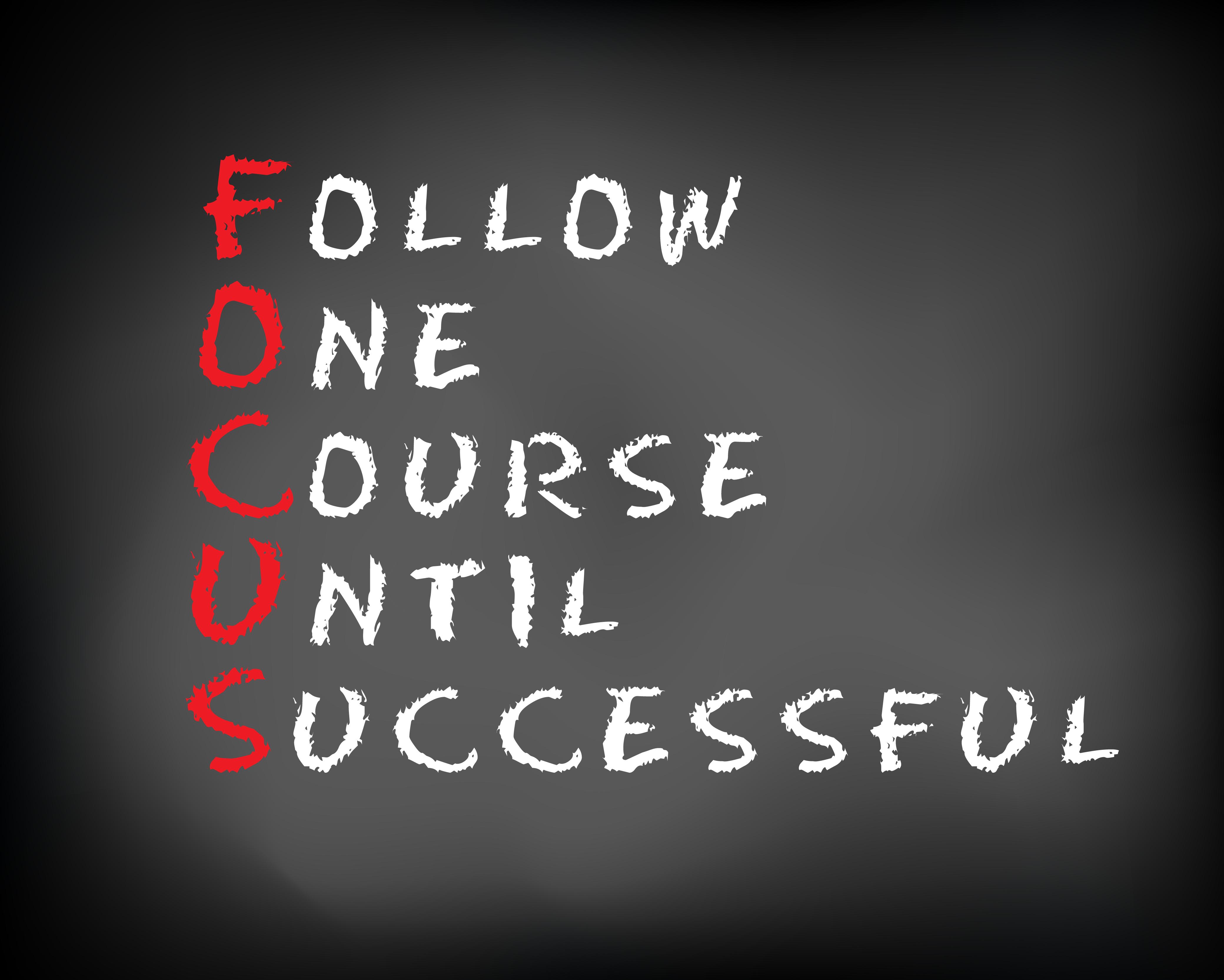 våga fokusera